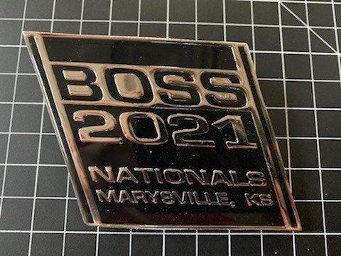2021 Boss Nationals grill medallion